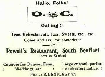 Shop 9 - Advert for Powell's Restaurant | B.U.D.C.