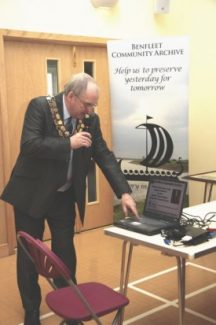 The Mayor, Cllr. David Cross symbolically launches the Archive | Rachel Day