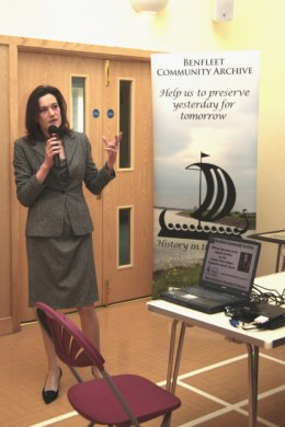 Rebecca Harris MP speaking at the formal part of the launch | Rachel Day