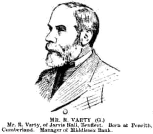 Mr Robert Varty at the 1892 General Election