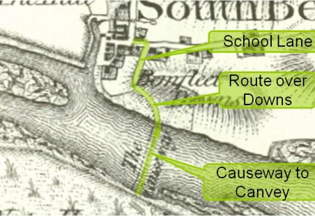 Route to Canvey from Benfleet changed in 1828