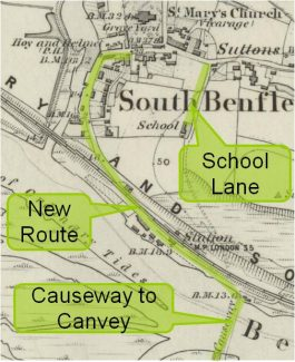 The new route to Canvey Island via Benfleet High Street as shown in 1867 | Phil Coley