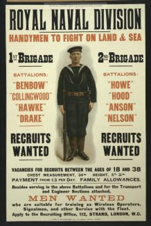 Royal Naval Division Recruiting Poster