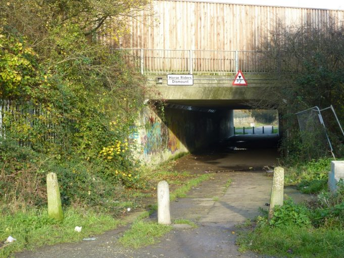 The underpass for the newly widened A130 and Rushbottom Lane goes underneath. | Margaret March