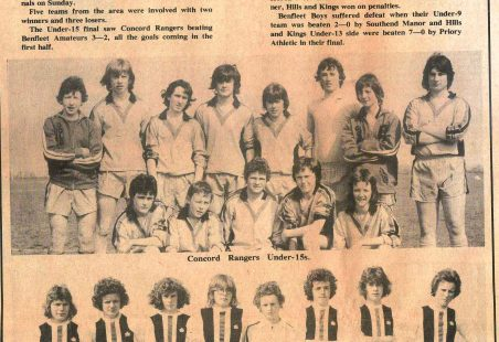 Castle Point Under 15s Football Teams - April 1976