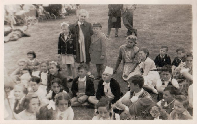 The children enjoying some time out of the classroom. c. 1948/49   Janice Jiggens