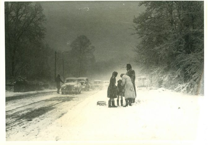 Bread & Cheese Hill - taking the toboggan to the Green Hill early 1960s | Harry Emery
