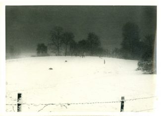 Sledging at dusk on the 'Green Hill'  Early 1960s | Harry Emery
