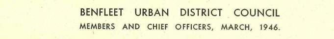 Benfleet Urban District Council 1946