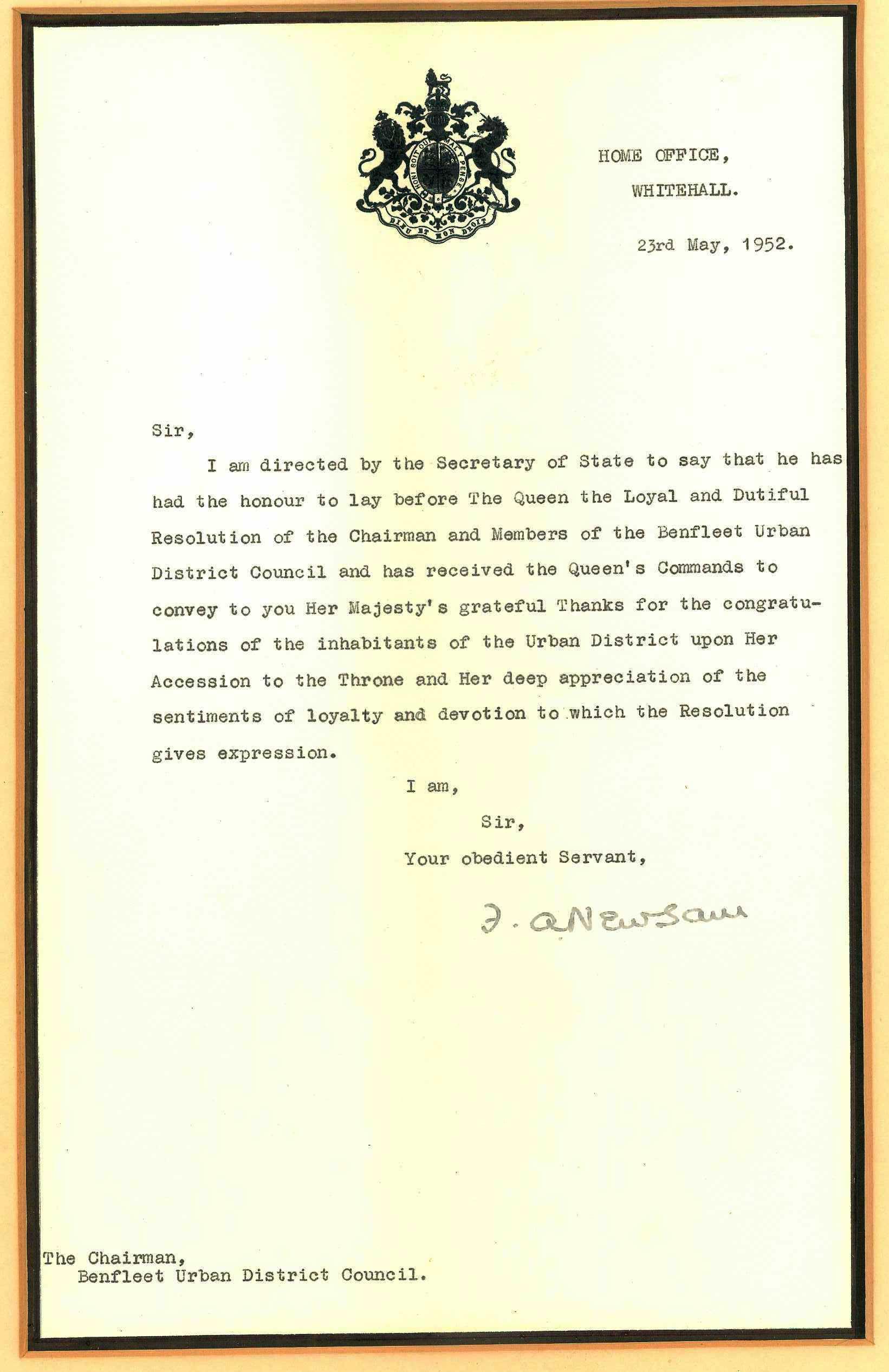 Proclamation of accession of Elizabeth II