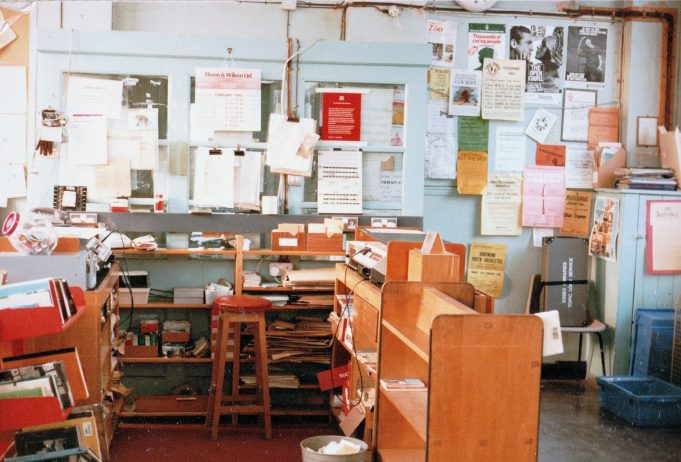 Inside the old library, the calendar on the wall is showing February 1986 | June Elmes