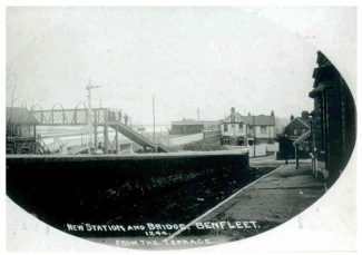 New Station and Bridge, Benfleet, from The Terrace | Benfleet and District Historical Society