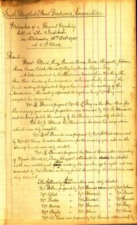 Minutes of a General Meeting held at The Institute on Wednesday, 16th October 1918. | South Benfleet Food Producers' Association - now known as Benfleet Horticultural Society