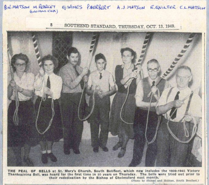 Photo by Shiner & Holmes - Published in the Southend Standard Thursday 13th October 1949 | Miss Betty Matson