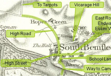 Saxon Roads in Benfleet c 500 AD