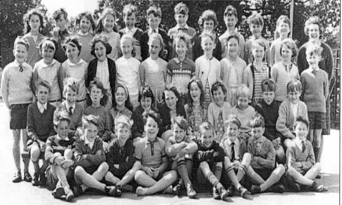 Mrs Dobson's class around 1966