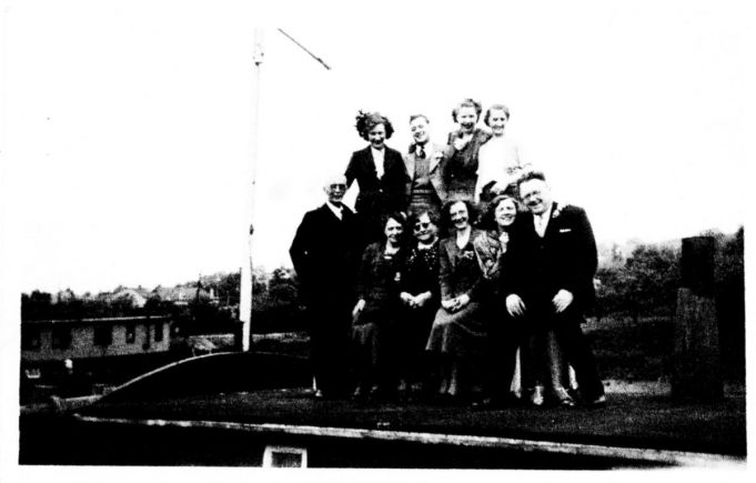 Jessie, the lady that lived on the boat is at the back far left | Marion Turner