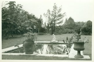 The garden as it looked in the mid 1960s. This area was formerly laid out as a tennis court. | Julie Summers