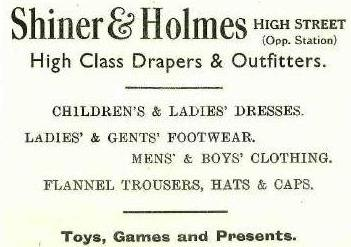 Shop No.14 - Advert for Shiner & Holmes, who were also Photographers | B.U.D.C.