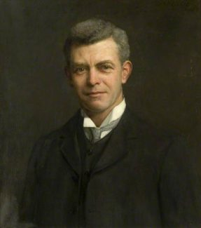 Sir Charles Nicholson painted circa 1909 by Herbert Arnould Olivier | Copyright is held by Southend-on-Sea Borough Council. Reproduced with permission from Southend-on-Sea Borough Council.