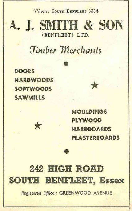 Shop 31 - Advert for A J Smith & Son, timber merchants | B.U.D.C.