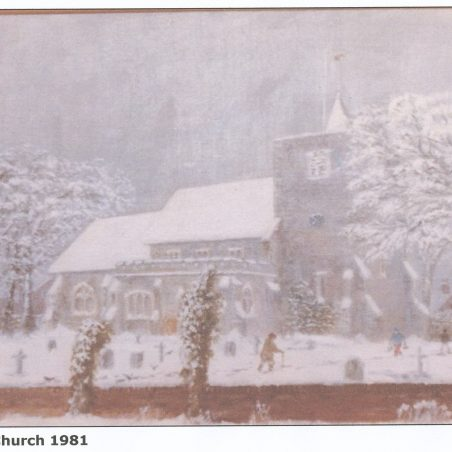 Snowy church | Henry Gerald Russell