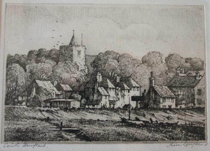 South Benfleet  etching
