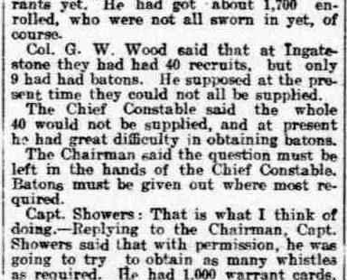 Benfleet's WW1 Special Constables