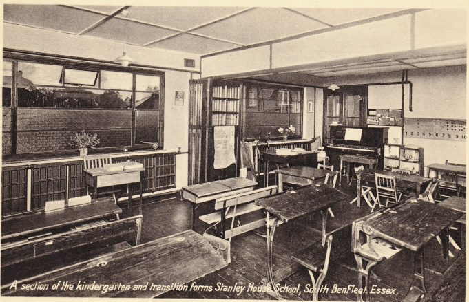 Postcard 1: The extension to Stanley House School showing The Hall. c. mid 1930s   Peter Gillard