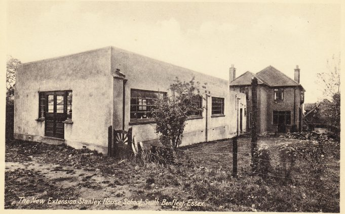 Postcard 3: The extension as viewed from from the rear. c. mid 1930s.  This extension can still be seen today on the map at the bottom of this page. | Peter Gillard