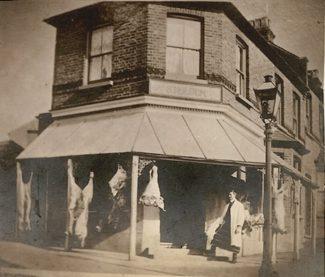 Second Shop: Butchers shop | R.F. Postcards