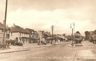 Shops at the Tarpots with The Tarpots Hall in the centre   A Francis Frith postcard