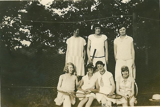 The Benfleet Tennis club about 1937? | From the collection of the late Kath Fisher with the permission of Paddy Marrisson