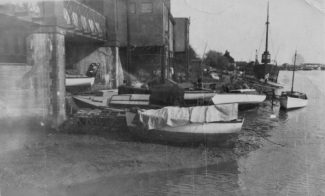 Benfleet Creek flowing beneath the station | Jackie Barnes collection