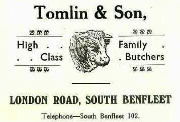 Shop 3 - Advert for Tomlin & Son, butcher | B.U.D.C.