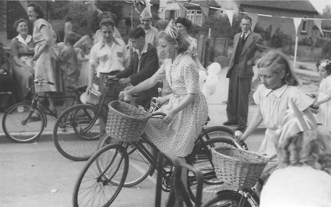 Margaret is seen in action (and eventually winning) the slow bicycle race.