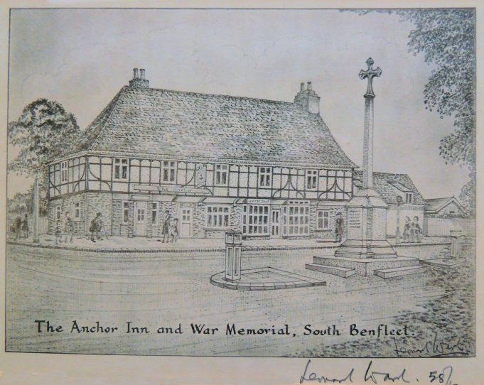 The Anchor Inn and War Memorial, South Benfleet | Diana Hawkins