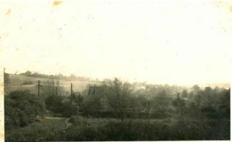 Hill Road mid 1940s. Take  from junction of Hill Road/Southwell Road. The property that can just be seen, centre picture, is probably 'Durley Grange'. | Harry Emery