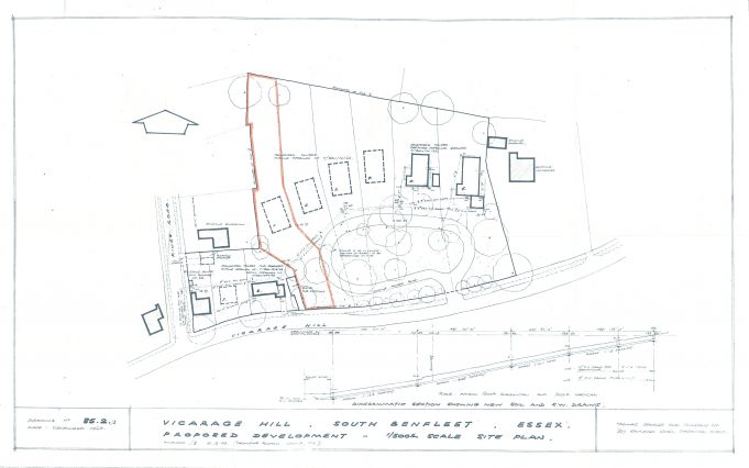 Glebe site plan with No. 73  highlighted. To enlarge the image click on the plan.