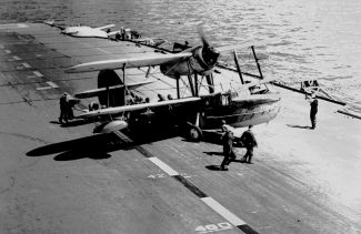 From the collection of Gilbert Wines, plane on aircraft carrier | Gilbert Wines