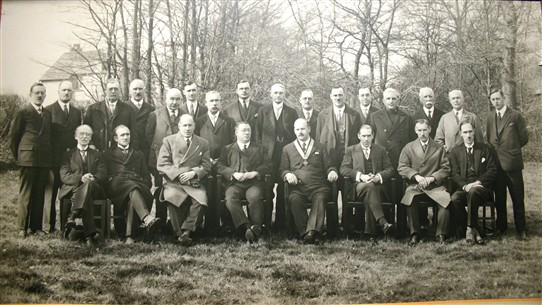 Council members assembled for group photo 1929 - 1930. Walter Bingham front row second from left. | Castle Point Council