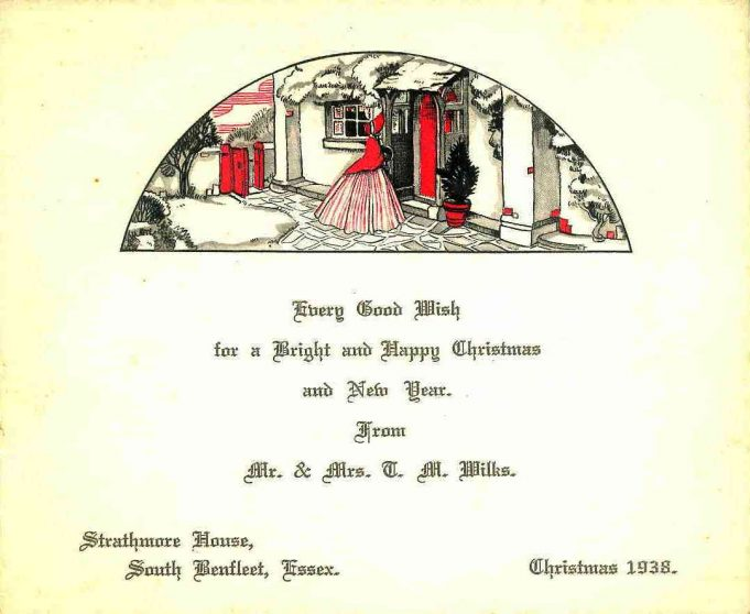 Christmas Card from Mr & Mrs T M Wilks 1938 | Mary Acres (Dr Doug Acres daughter)