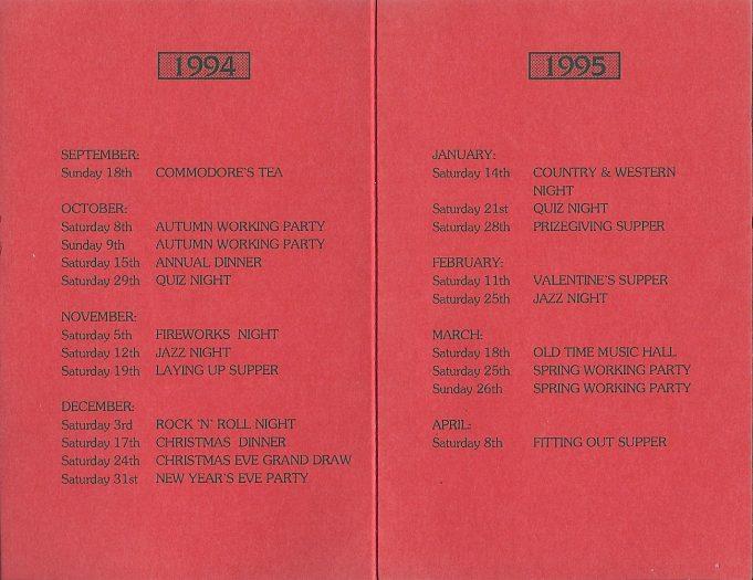 The social calendar 1994 -95