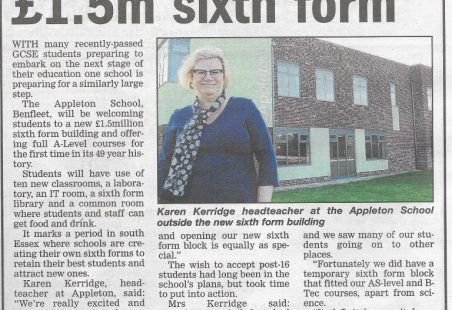 Appleton School Opens New 6th Form