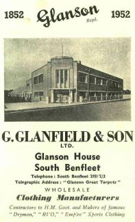 Advert as published in Benfleet Burban District Council guides | Castle Point Council