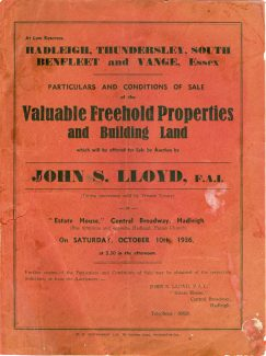 Catalogue of land for sale  - dated October 1936 | Julie Summers