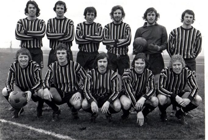 Wearing the multi coloured stripes - 1973/4