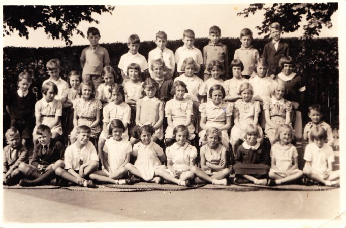 Benfleet Primary School class photo 1939/40. I am sitting in the third row from the back, third in from the left. | Paddy Marrison