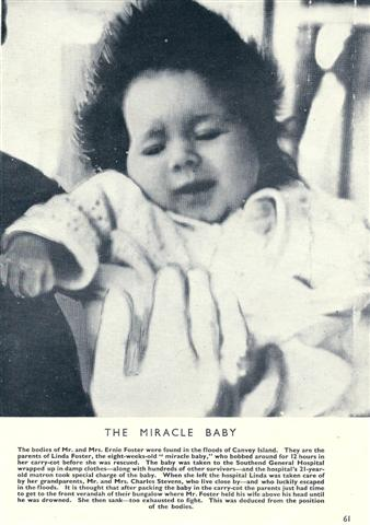 Baby Linda Foster, donations for this child were received at Benfleet School.  