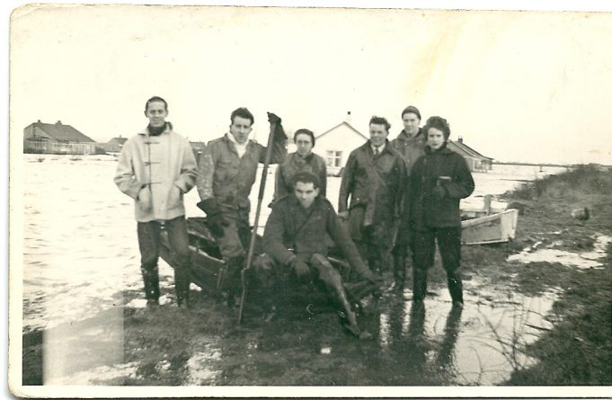 One of the rescue parties from Benfleet Yacht Club | Paddy Marrison's collection.  The photographer is thought to be Ken Brown who also went over to Canvey Island that morning.